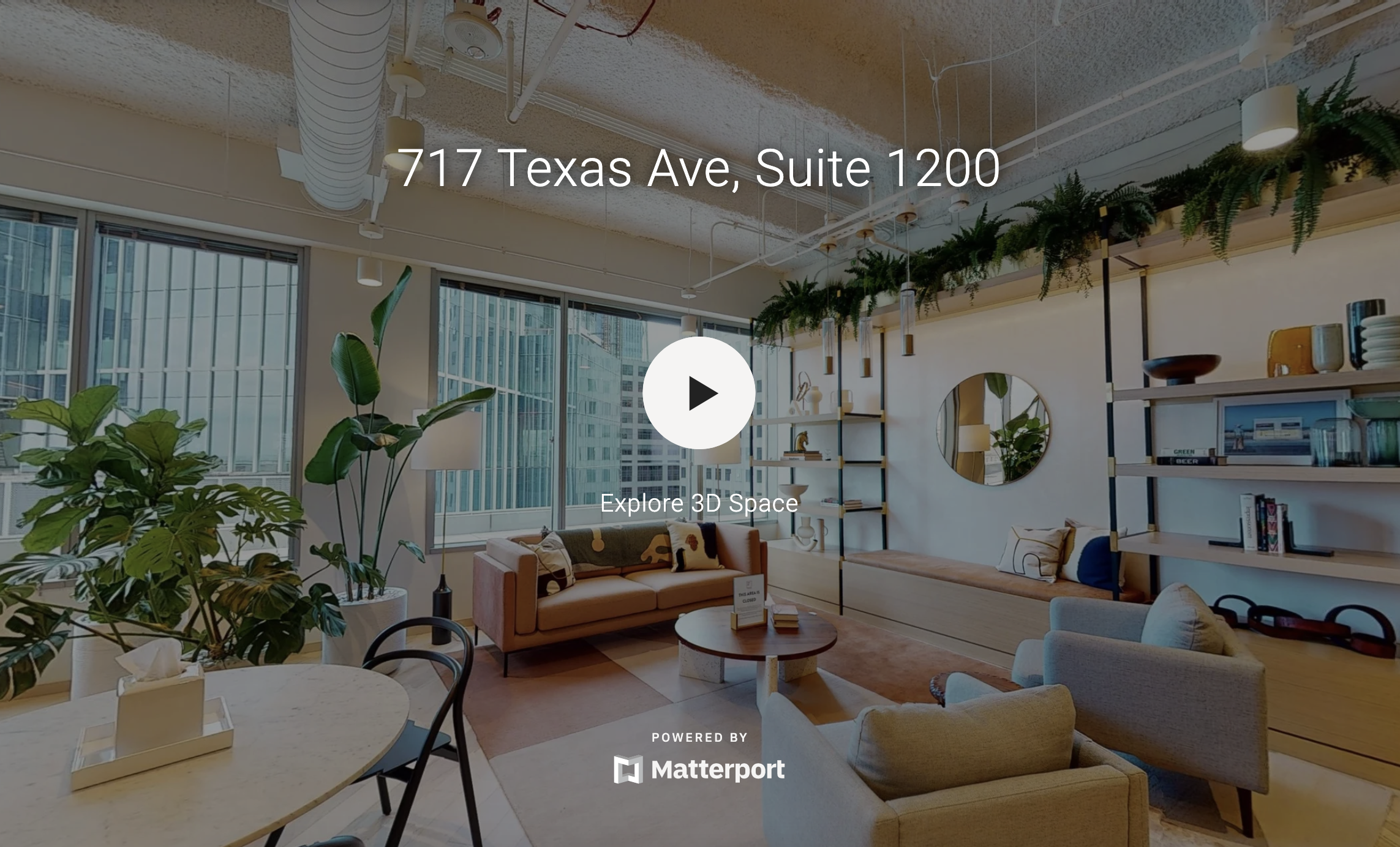 Take A Virtual Tour (Bottom of Page- Hyperlink to Matterport Tour Link)